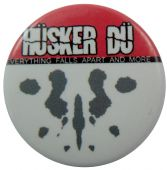 Hüsker Dü - 'Everything Falls  Apart and More Red' Button Badge Husker Du